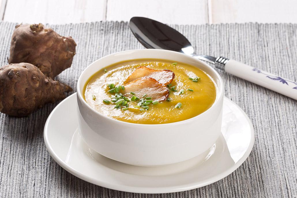 Supă cremă de topinambur
