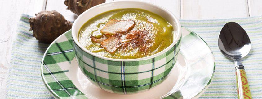 Supă de mazăre și topinambur